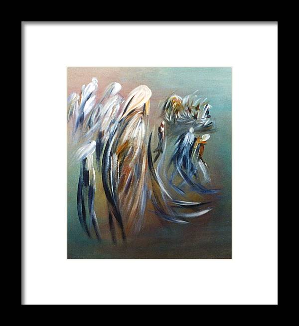 Romantic Framed Print featuring the painting Romantic Landscape by Mushtaq Bhat