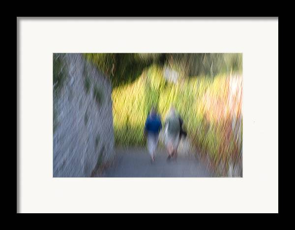 Italy Framed Print featuring the photograph Romantic Walking by Luigi Barbano BARBANO LLC