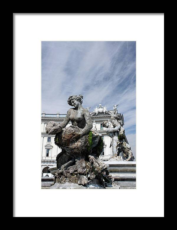 Rome Framed Print featuring the photograph Rome Piazza by Munir Alawi