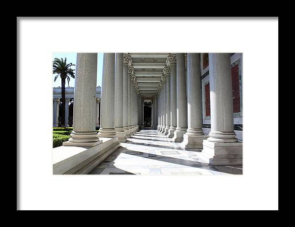 Pillar Framed Print featuring the photograph Rome Pillars by Munir Alawi