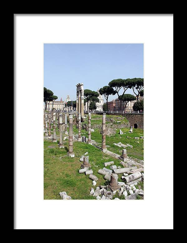 Rome Framed Print featuring the photograph Rome Ruins by Munir Alawi