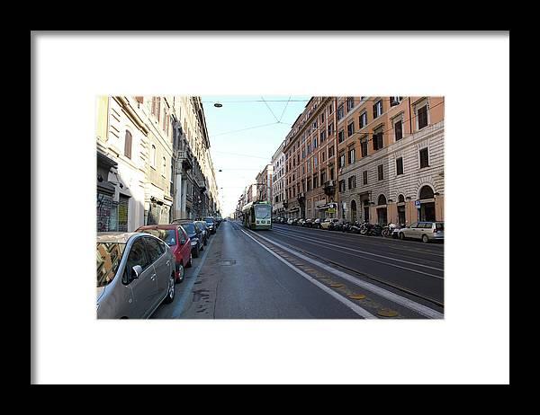 Streetcar Framed Print featuring the photograph Rome Streetcar by Munir Alawi