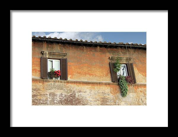 Window Framed Print featuring the photograph Rome Windows by Munir Alawi