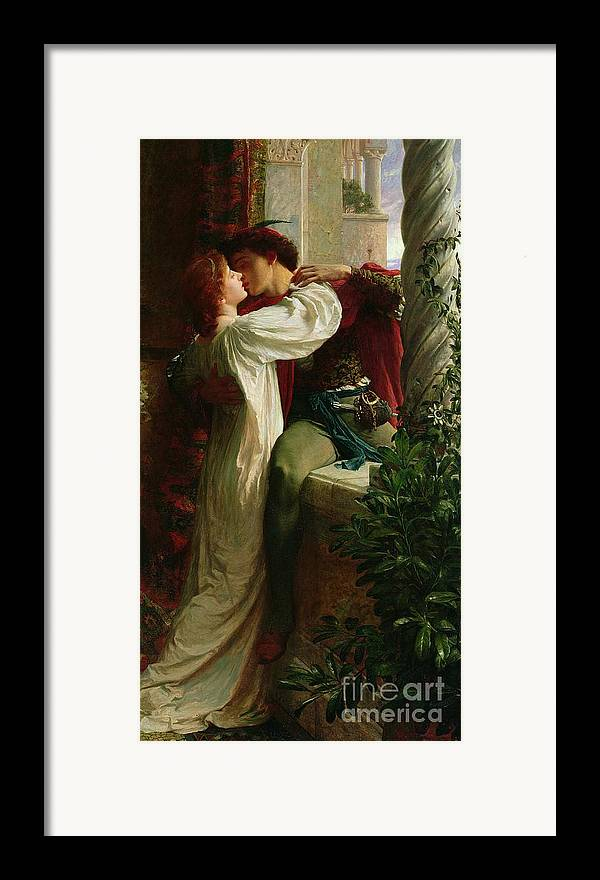 Romeo And Juliet Framed Print featuring the painting Romeo And Juliet by Sir Frank Dicksee