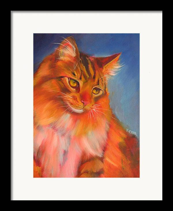 Maine Coon Cat Framed Print featuring the painting Romeo by Kaytee Esser