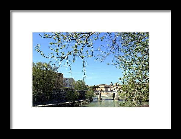 Rome Framed Print featuring the photograph Rome's River by Munir Alawi