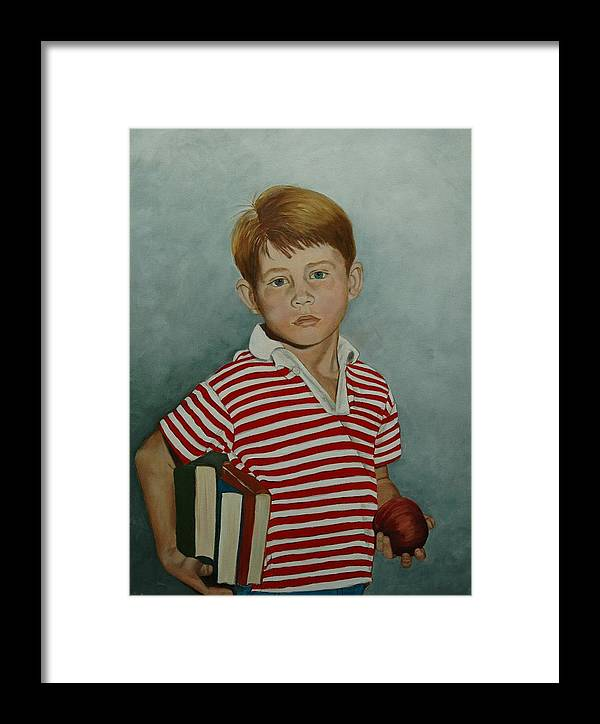 Opie Framed Print featuring the painting Ron Howard As Opie Taylor by Tresa Crain