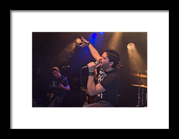 Ritchie Blackmore Framed Print featuring the photograph Ronnie Romero 1 by Pablo Lopez