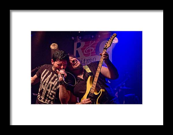 Ritchie Blackmore Framed Print featuring the photograph Ronnie Romero 3 by Pablo Lopez
