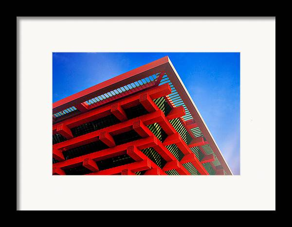 China Pavilion Framed Print featuring the photograph Roof Corner - Expo China Pavilion Shanghai by Christine Till