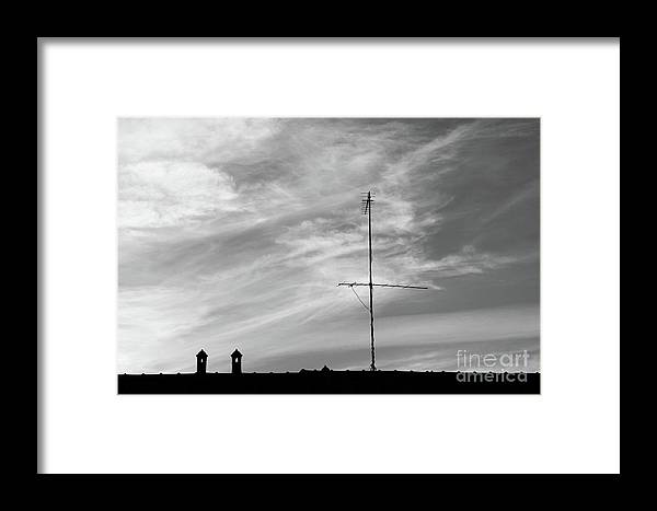 Landscape Framed Print featuring the photograph Rooftop In Milan Italy by Julia Hiebaum