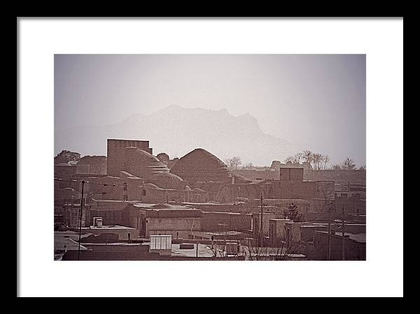 Iran Framed Print featuring the photograph Rooftops, Yazd, Iran by Michael Ziegler