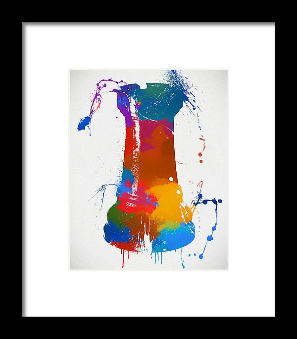 Rook Chess Piece Paint Splatter Framed Print