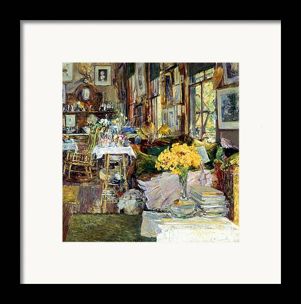 19th Century Framed Print featuring the photograph Room Of Flowers, 1894 by Granger