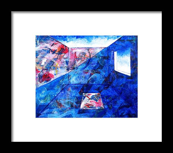 Room Framed Print featuring the painting Room With A View by Rollin Kocsis
