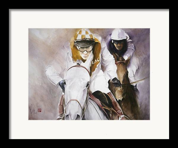 Race Horse Framed Print featuring the painting Rooster Booster by Alan Kirkland-Roath