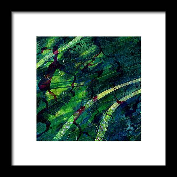 Abstract Framed Print featuring the digital art Root Canal by William Russell Nowicki