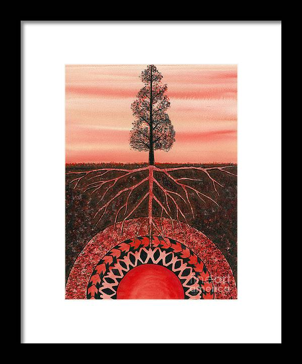 Chakra Framed Print featuring the painting Root Chakra by Catherine G McElroy