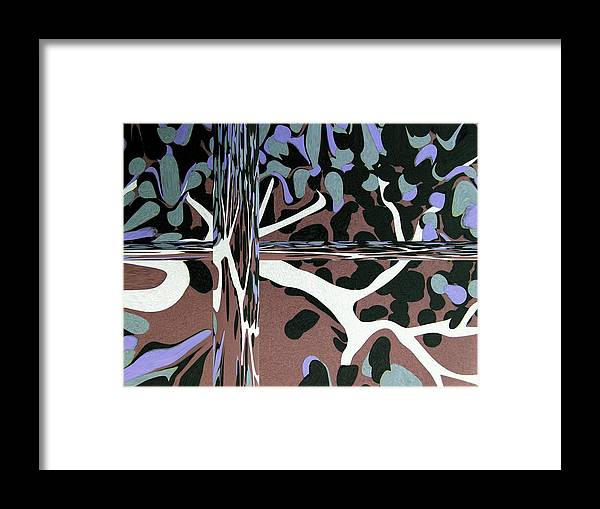 Abstract Framed Print featuring the digital art Roots II by Florene Welebny