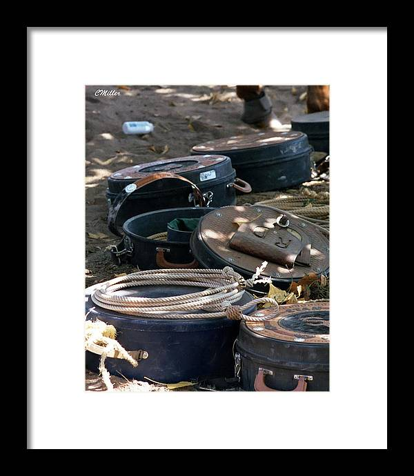 Rodeo Framed Print featuring the photograph Rope Cans.. by Carol Miller