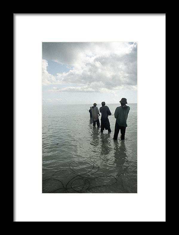 Fishermen Framed Print featuring the photograph Rope Haul by Marcus Best