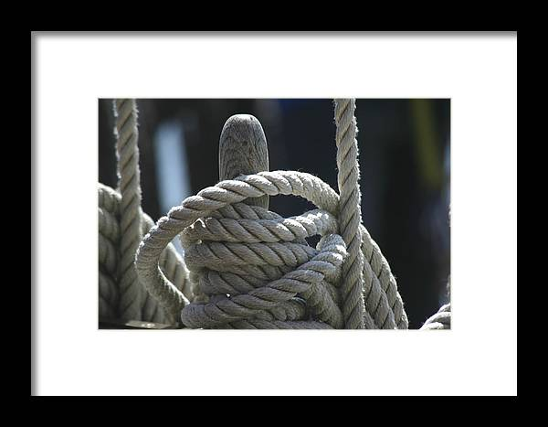 Ropes Framed Print featuring the photograph Ropes by Hans Jankowski