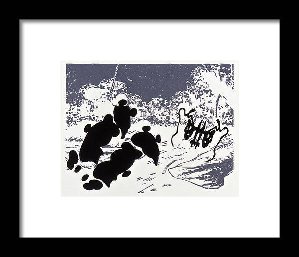 Karl Framed Print featuring the drawing Rorschach 4 Pearls Before Swine by Karl Frey