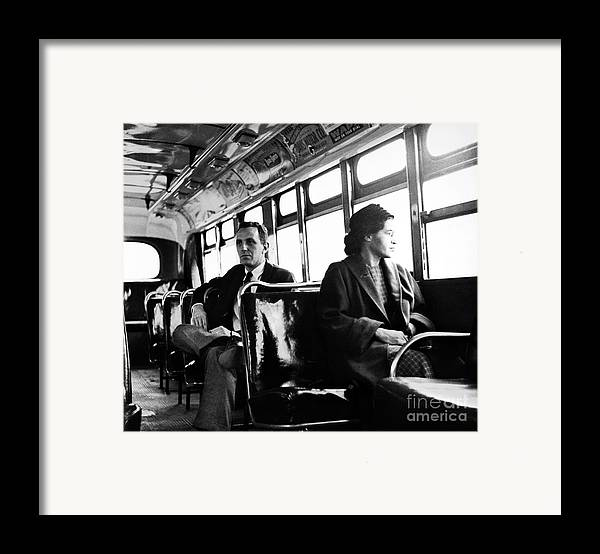 1956 Framed Print featuring the photograph Rosa Parks (1913-2005) by Granger