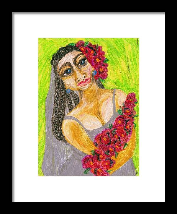 Woman Art Framed Print featuring the painting Rosamie by Stacey Torres