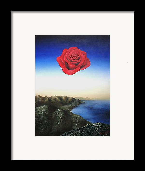 Rose Framed Print featuring the painting Rosamund by Massimiliano Stanco