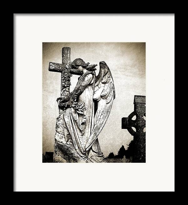 Ireland Framed Print featuring the photograph Roscommon Angel No 1 by Teresa Mucha