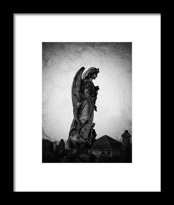Roscommon Framed Print featuring the photograph Roscommonn Angel No 4 by Teresa Mucha