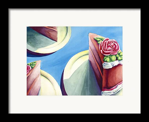 Rose Cake Framed Print featuring the painting Rose Cake by Jennifer McDuffie