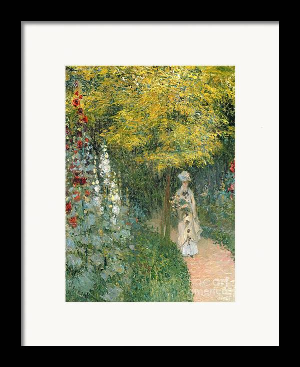 Rose Framed Print featuring the painting Rose Garden by Claude Monet
