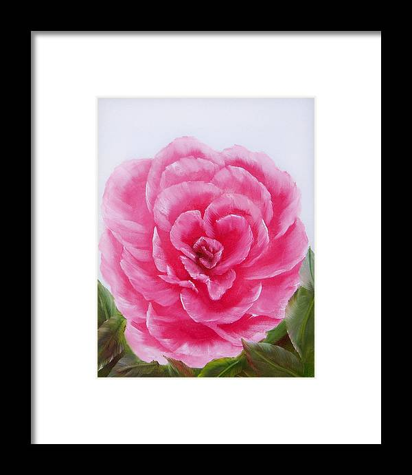 Oil Framed Print featuring the painting Rose by Joni McPherson