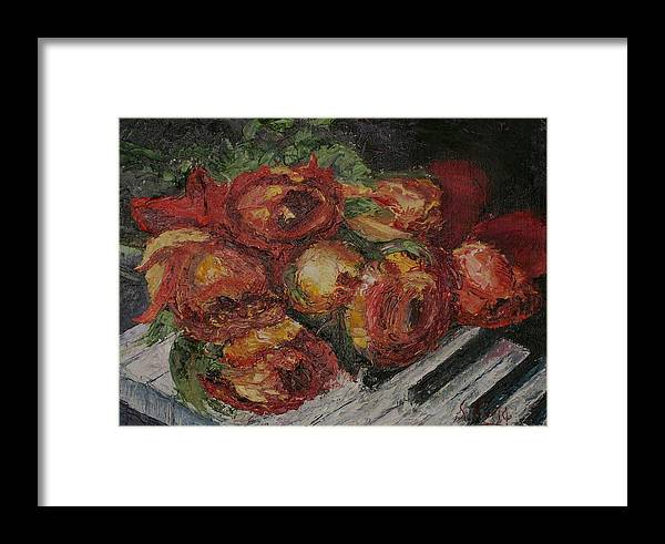 Still Life Framed Print featuring the painting Rose Melody by Stephen King