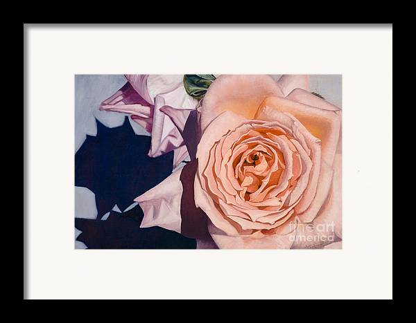 Roses Framed Print featuring the painting Rose Splendour by Kerryn Madsen-Pietsch