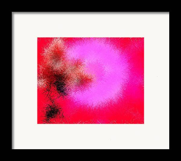 Senses.flower.rose.broken Rose.pins.sun.love.fire Of The Feelings. Framed Print featuring the digital art Roses And Pins by Dr Loifer Vladimir