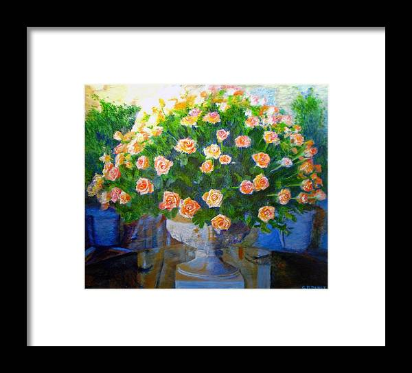 Rose Framed Print featuring the painting Roses At Table Bay by Michael Durst