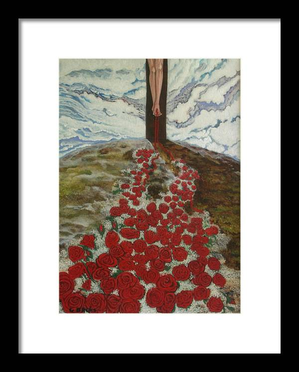Figurative Framed Print featuring the painting Roses by Georgette Backs