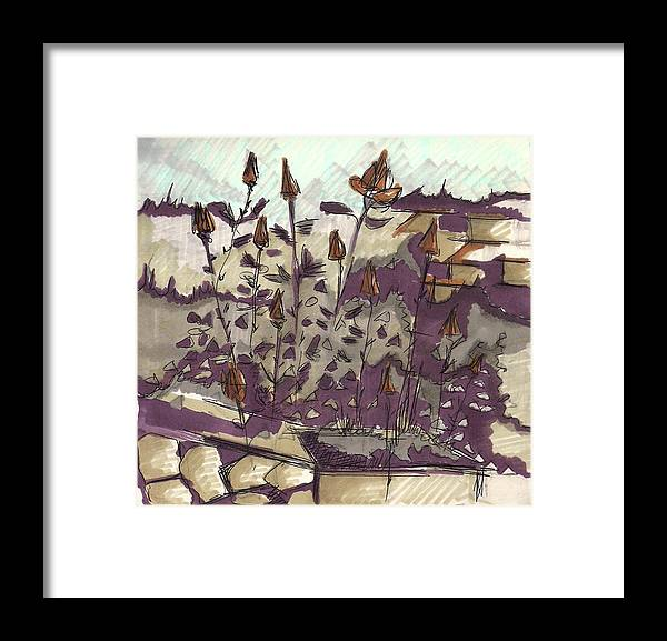Framed Print featuring the painting Roses On Hill by Popa Andreea
