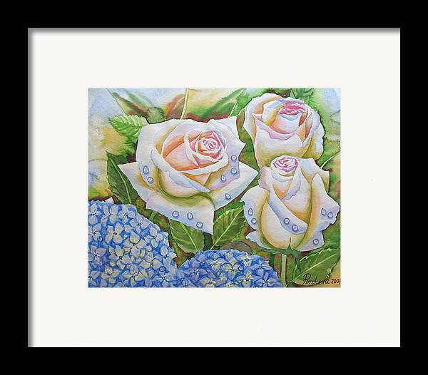 Flowers Framed Print featuring the painting Roses.2007 by Natalia Piacheva