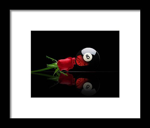 Pool Framed Print featuring the digital art Rosey8 by Draw Shots