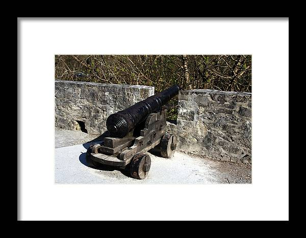 Castle Framed Print featuring the photograph Ross Castle Canon by Aidan Moran