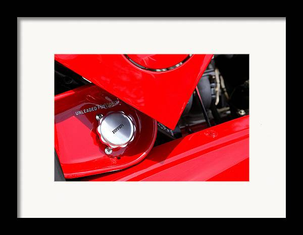 Red Framed Print featuring the photograph Rosso by Steve Parrott