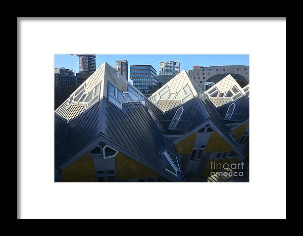 Architect Framed Print featuring the photograph Rotterdam - The Cube Houses And Skyline by Carlos Alkmin