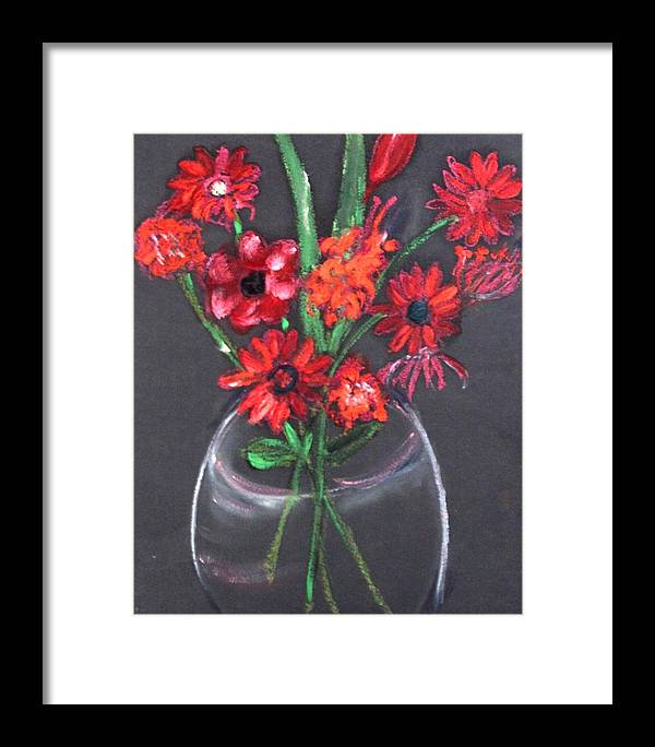 Still Life Framed Print featuring the painting Rouge Et Noir by Michela Akers