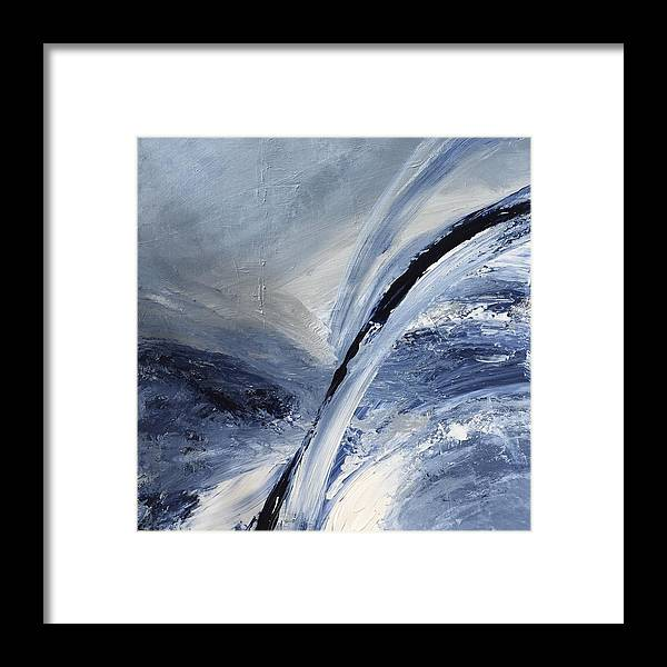 Ocean Framed Print featuring the painting Rough Seas by Judith Cahill
