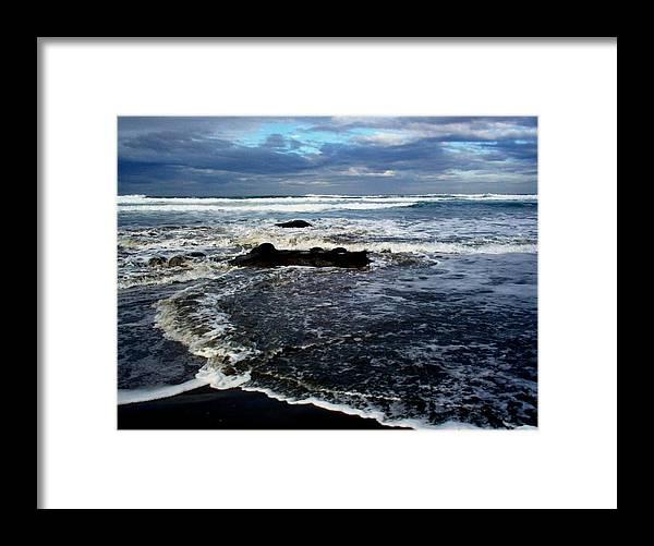 Ocean Framed Print featuring the photograph Rough Waters by Trisha Allard