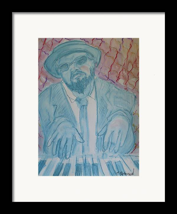 Thelonious Monk Framed Print featuring the painting Round Midnight by Todd Peterson